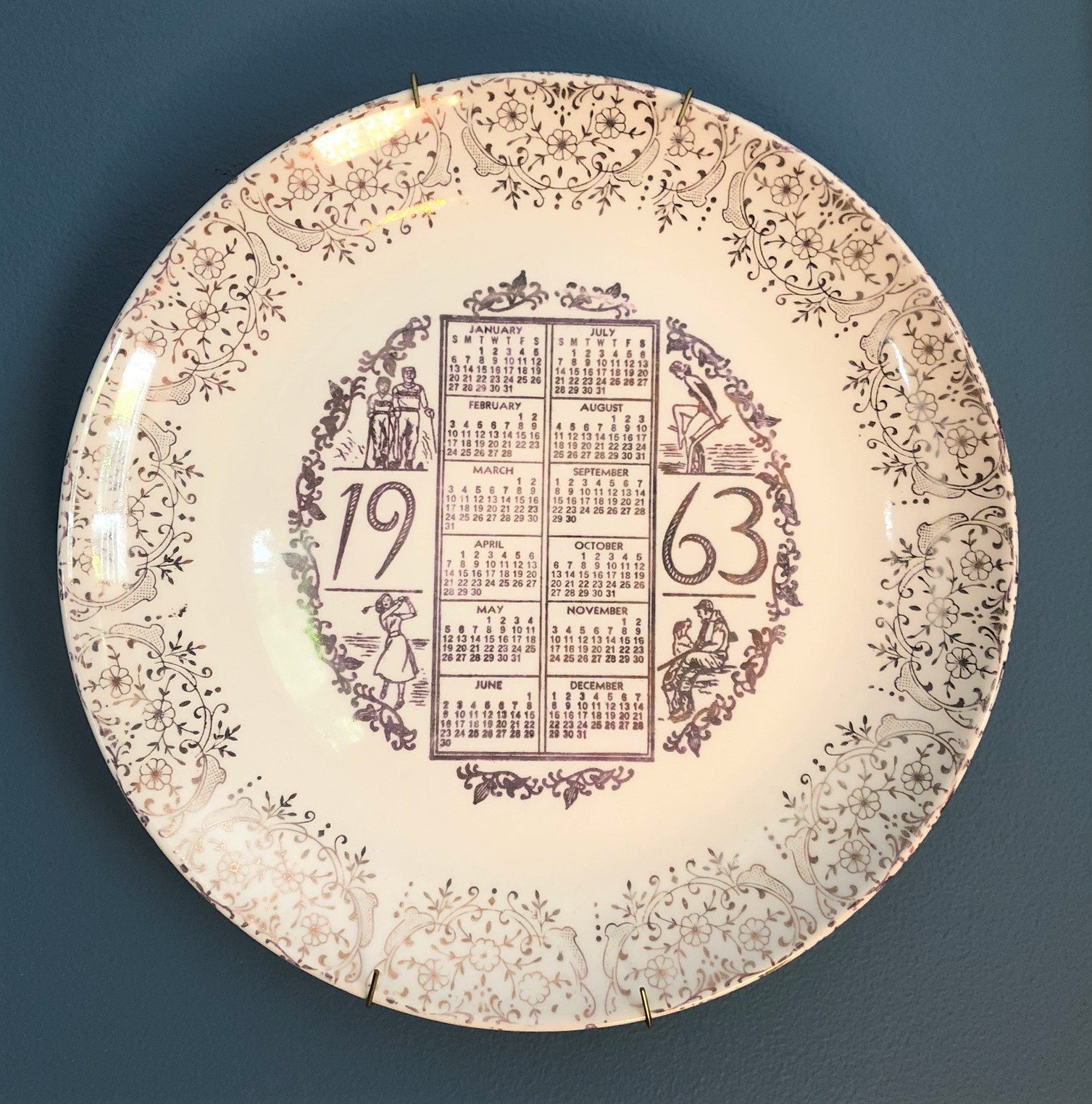 1963 Calendar Plate