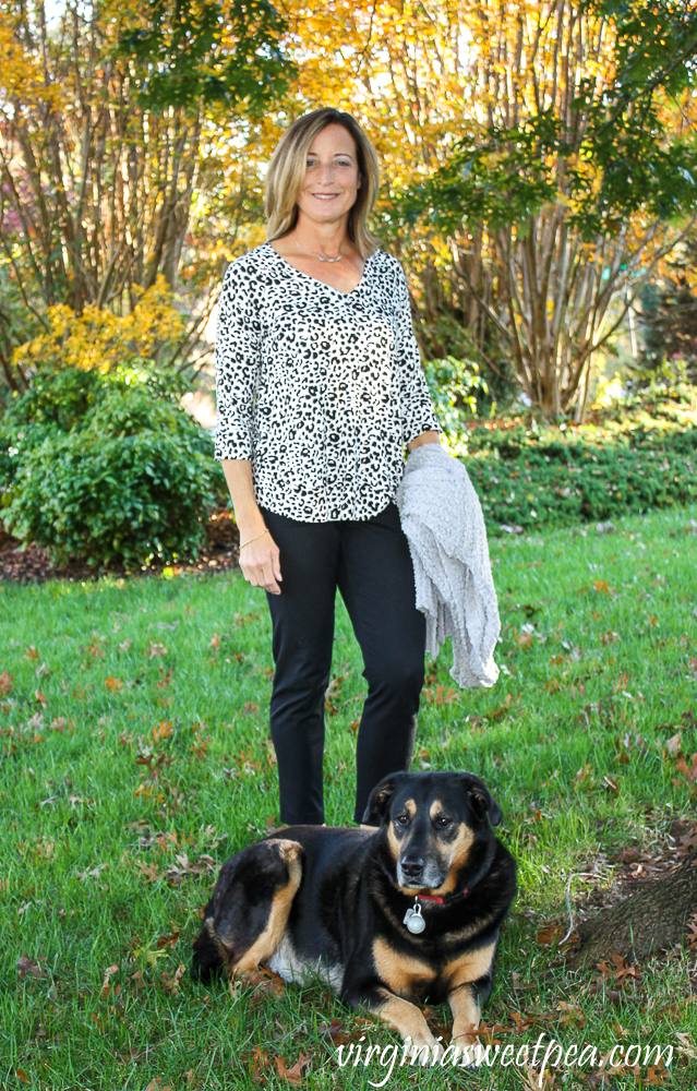 Fashom Chris and Carol Mara Animal Print Top