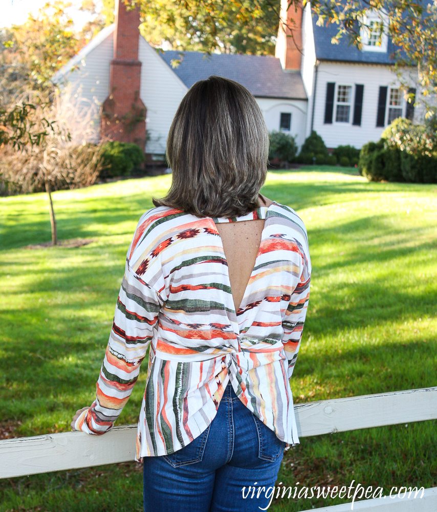 Fashom Twenty Second Chrissy Long Sleeve Stripe Top