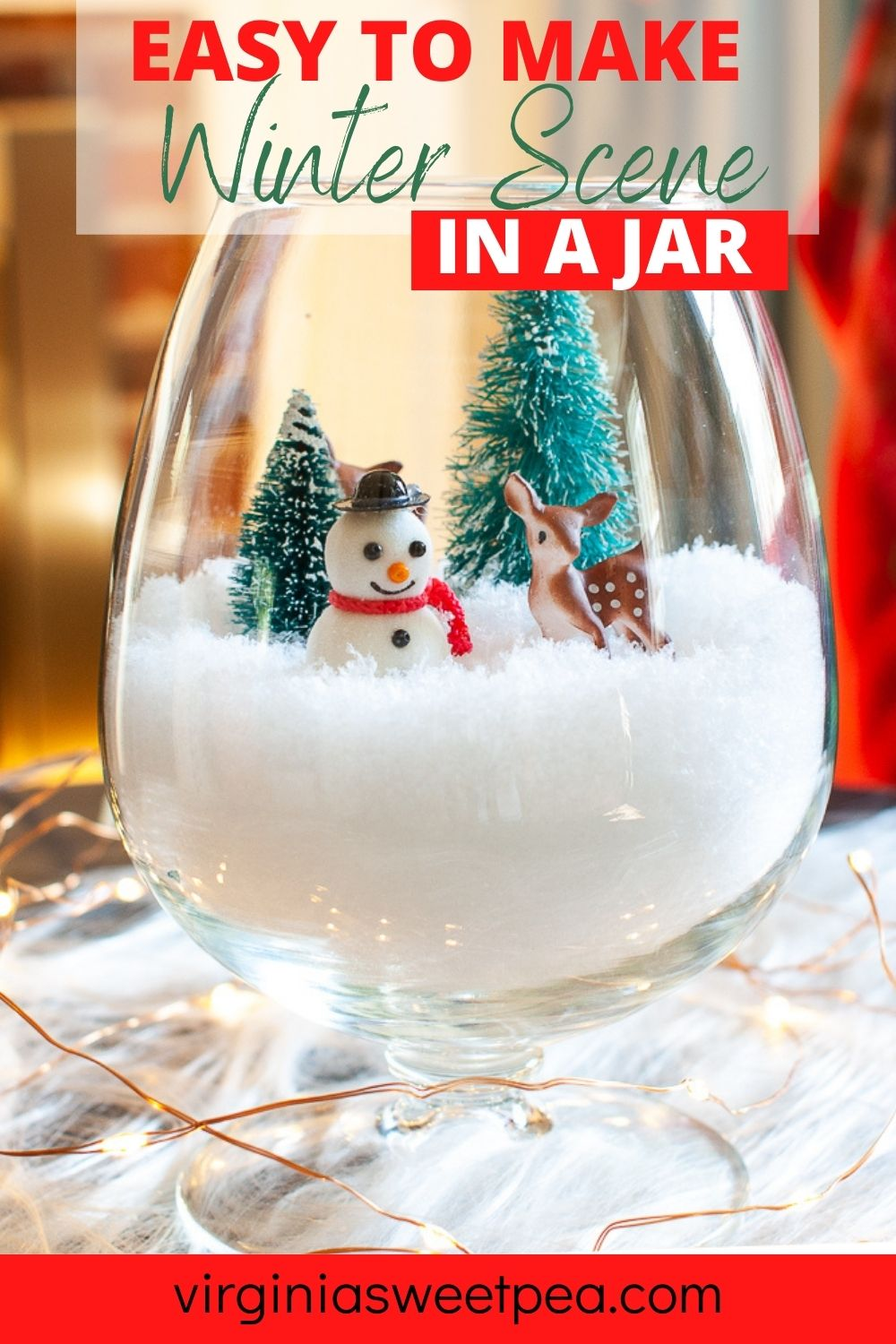 Easy to make Winter Scene in a jar - Get tips from 17 home decor bloggers for creating a winter scene in a jar. This is an easy project and is perfect for both a Christmas and winter decoration. via @spaula