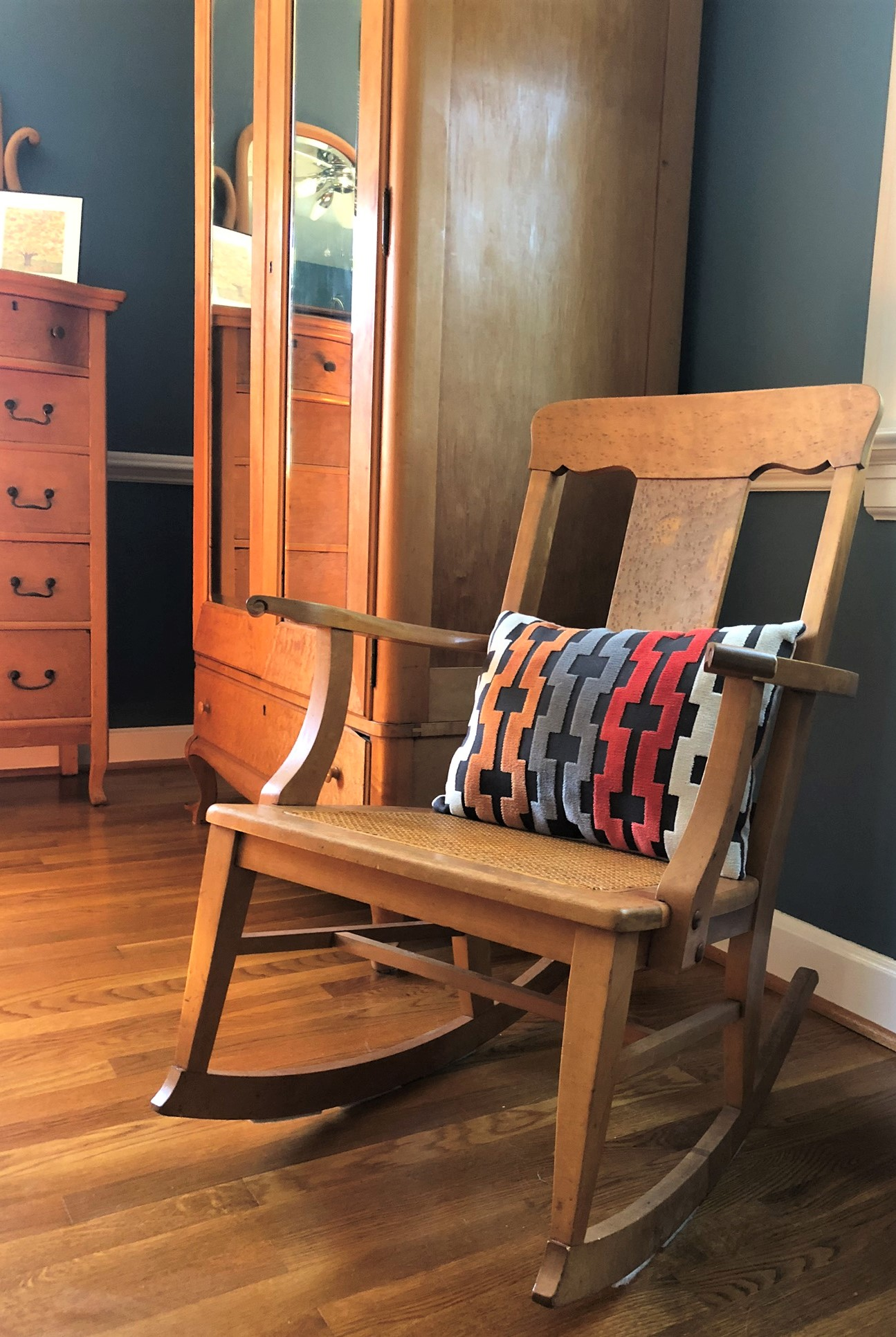 Bird's Eye Maple Rocking Chair