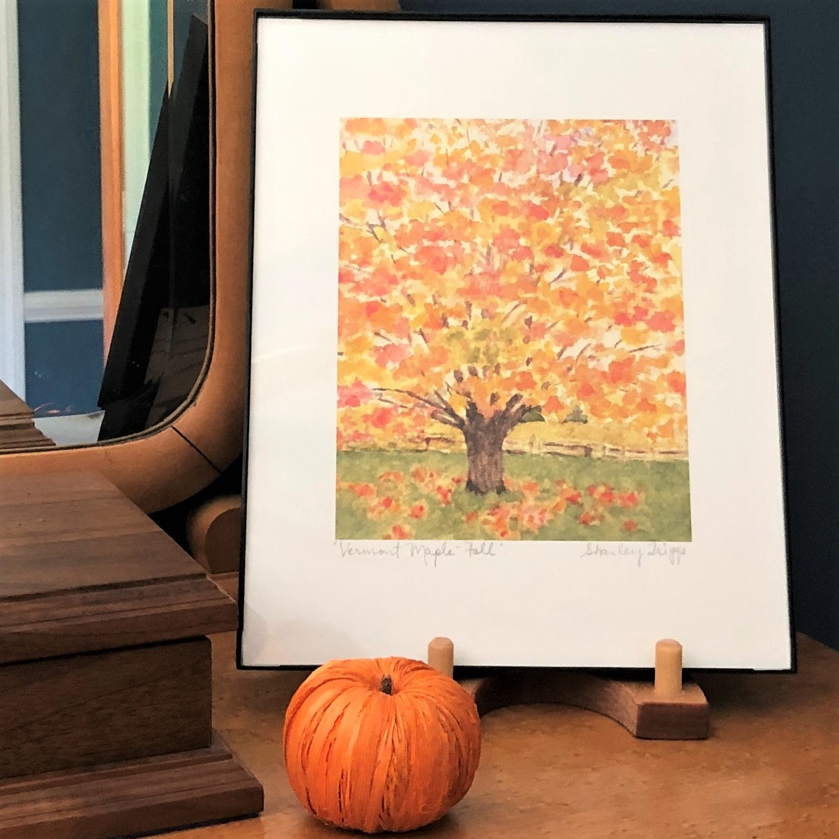 Vermont Maple Fall art by Shanley Triggs
