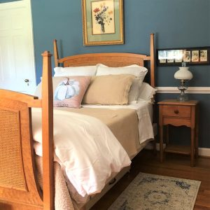 Master Bedroom furnished with antiques