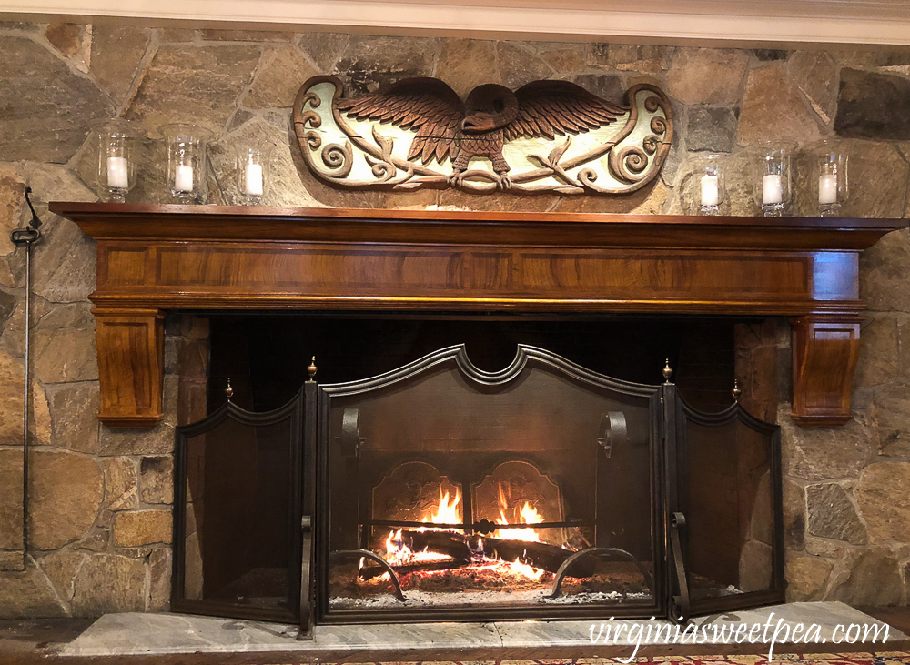 Fireplace at Woodstock Inn in Woodstock, Vermont
