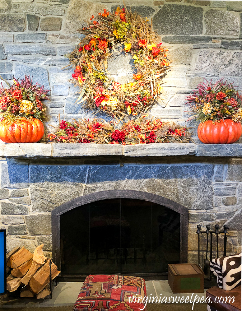 Fireplace at Orvis in Manchester, VT