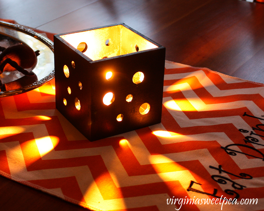 DIY square tea light holder