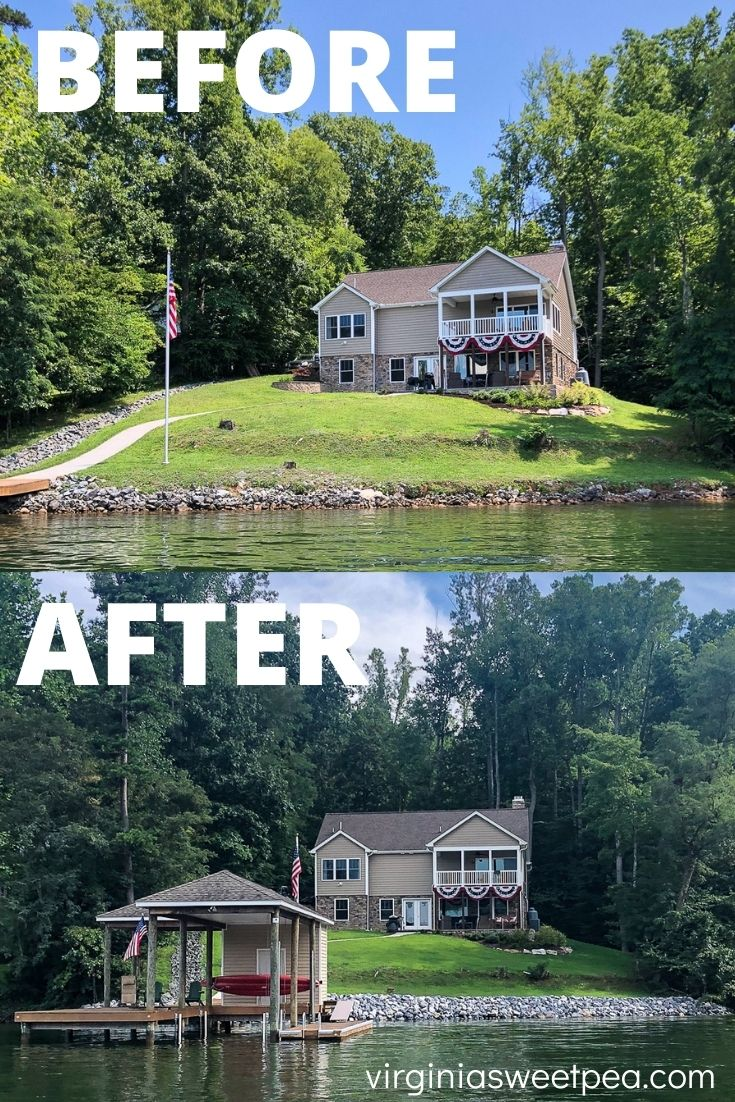 Lake House Before and After Lake View