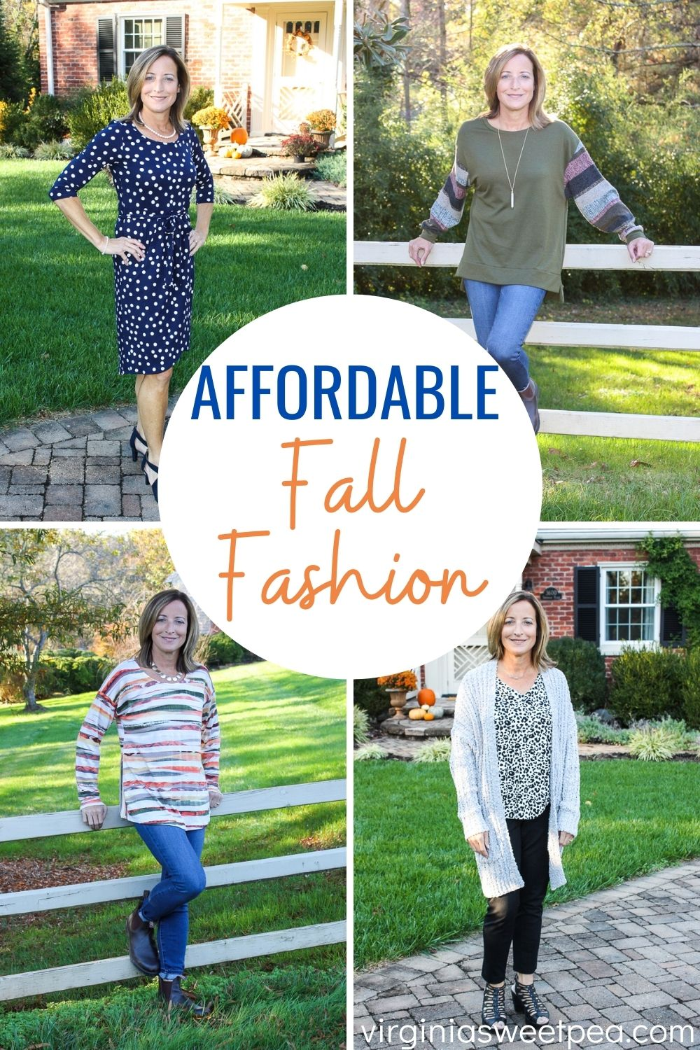 Affordable Fall Fashion - See five affordable fall fashions sent in my latest Fashom box.  Fashom is like Stitch Fix, but with lower prices.  #fallfashion #fashom #fashionover40 #fashionover50 via @spaula