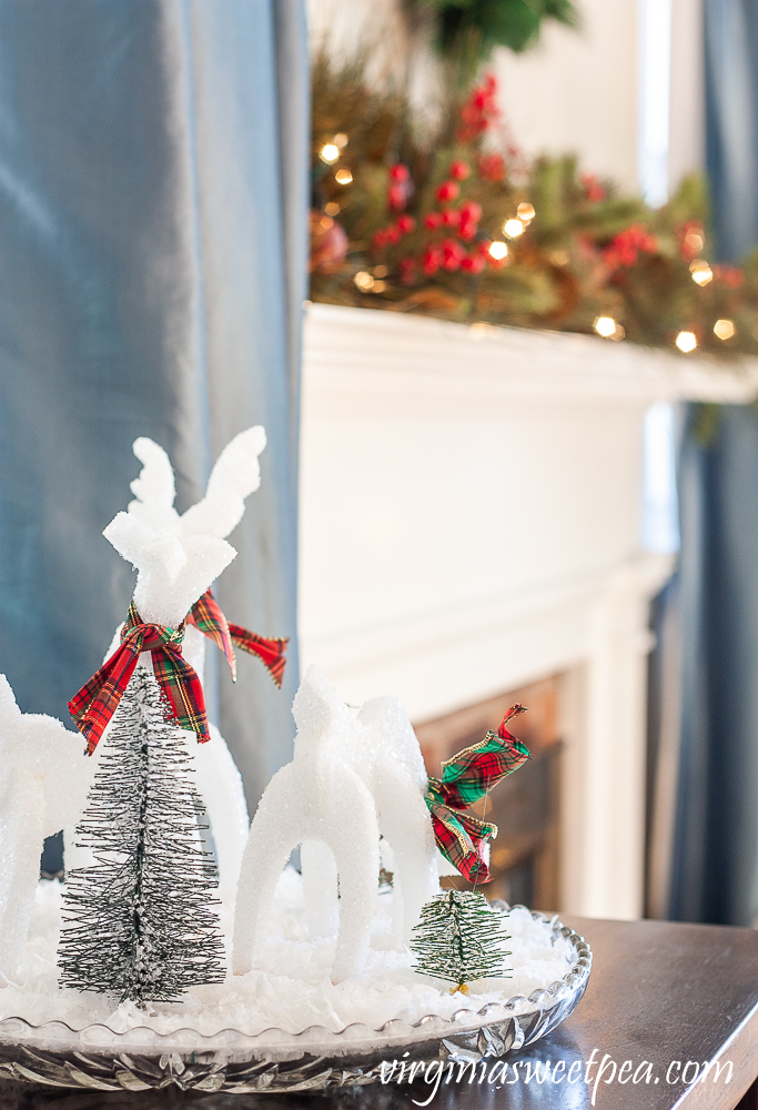 Christmas Mantel and Sparkly Reindeer