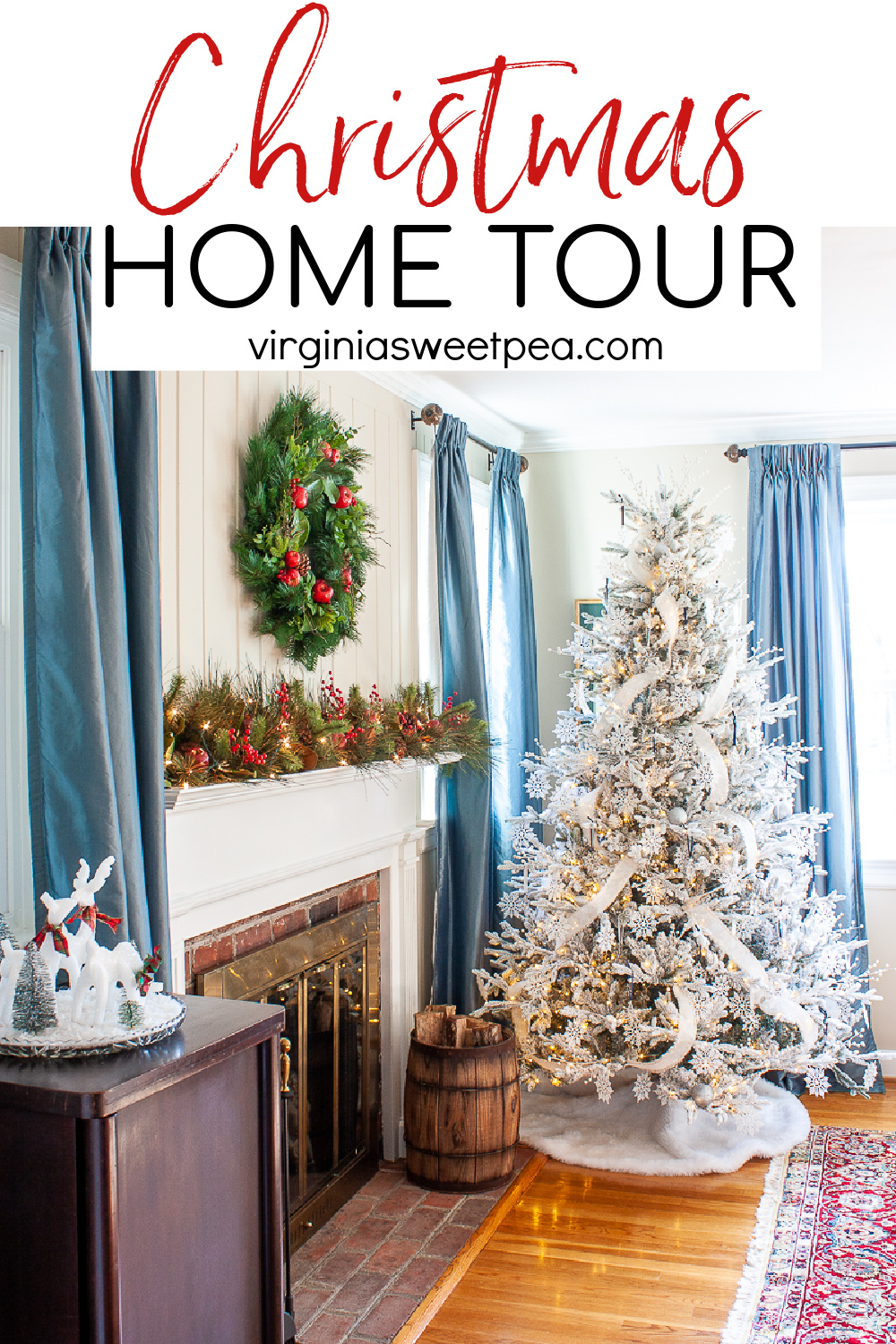 Come tour our living room and dining room decorated for Christmas in a classic southern style.   via @spaula