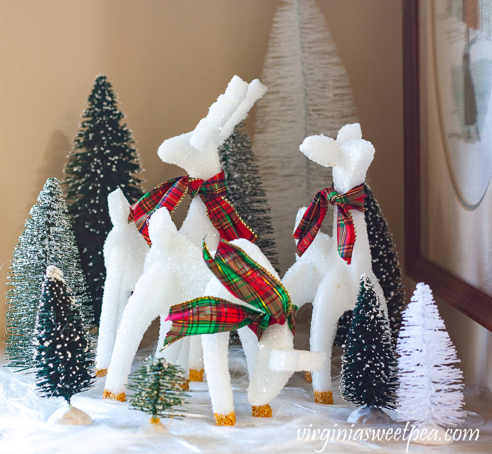 Reindeer crafted from styrofoam