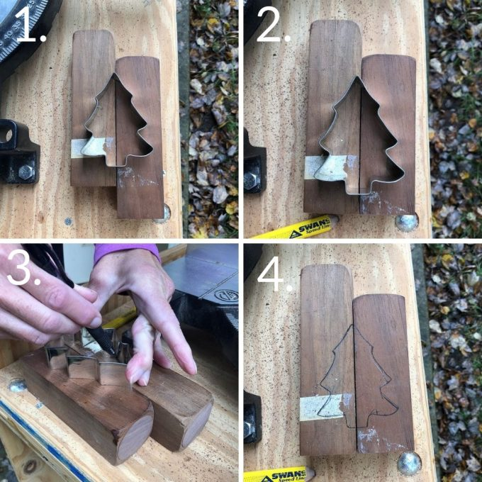 Steps to make a Wooden Candle Holder with a Tree Cutout