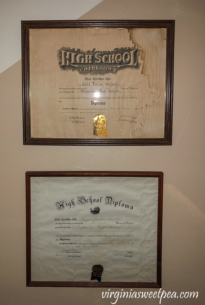 Antique Waynesboro High School, VA high school diplomas