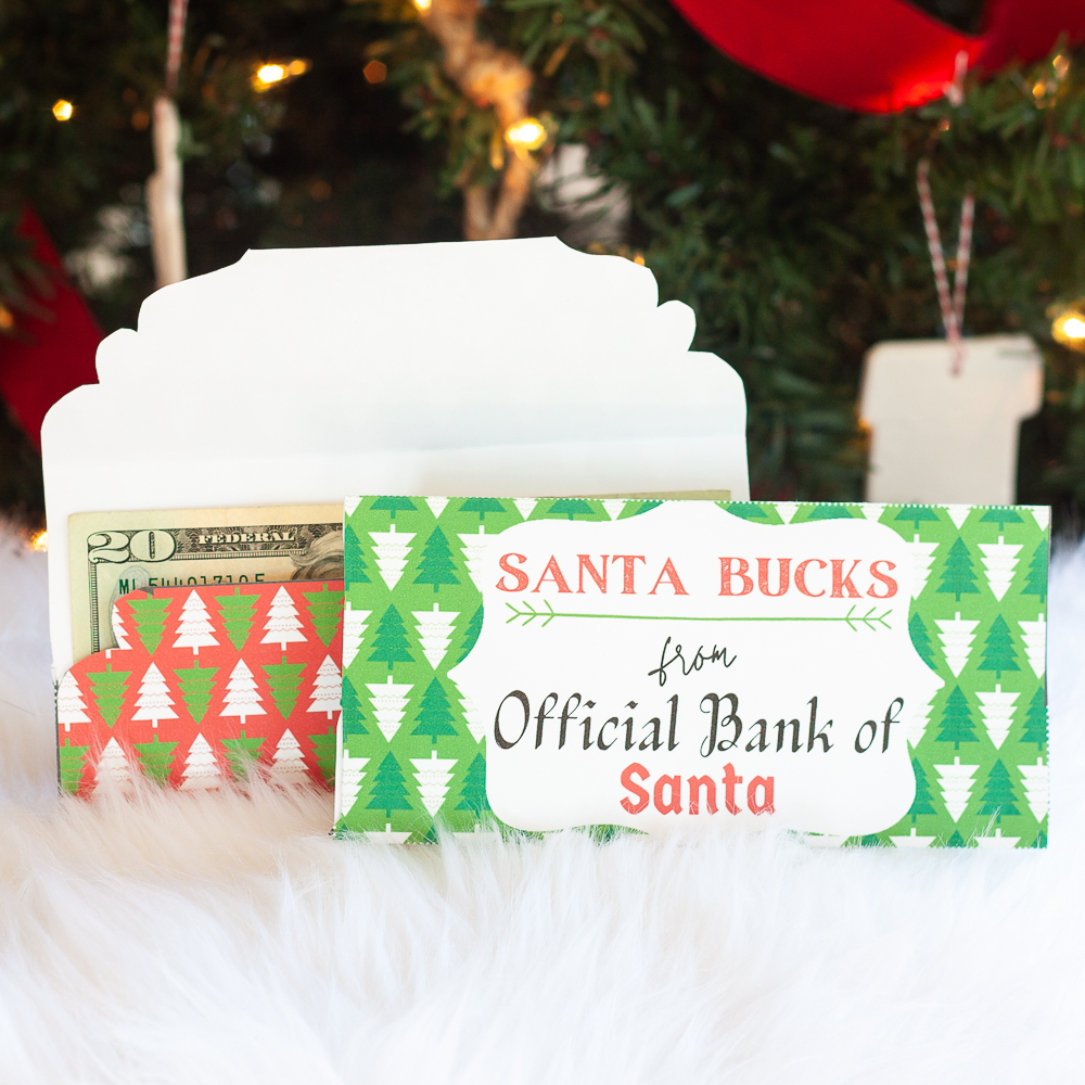 Free Printable Christmas Money Holder or Gift Card Holder