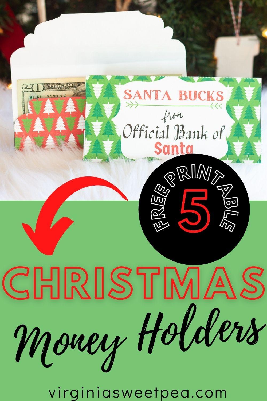Free Printable Christmas Money Holders Sweet Pea