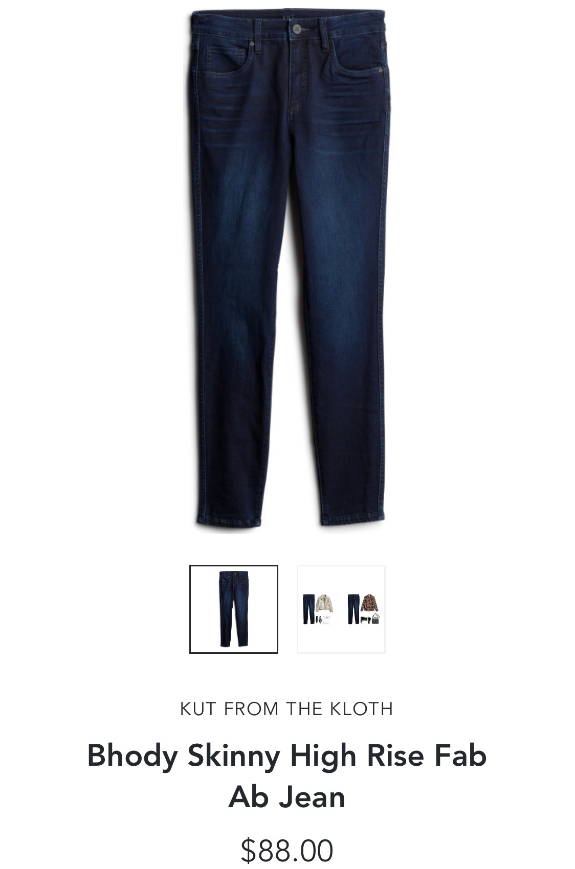 Kut from the Kloth Bhody Skinny High Rise Fab Ab Jean