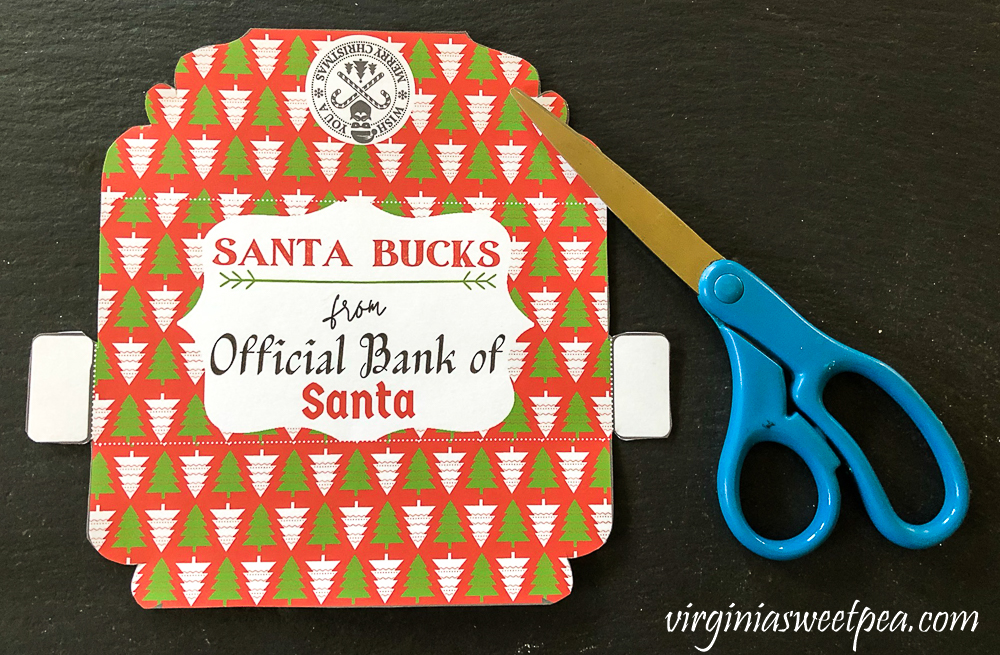 Cut out Christmas Money Holder