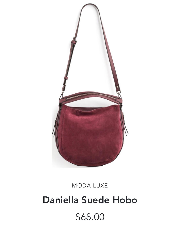 Stitch Fix Moda Luxe Daniella Suede Hobo