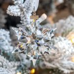 Winter Wonderland Christmas Tree with Swarovski Snowflake Ornaments