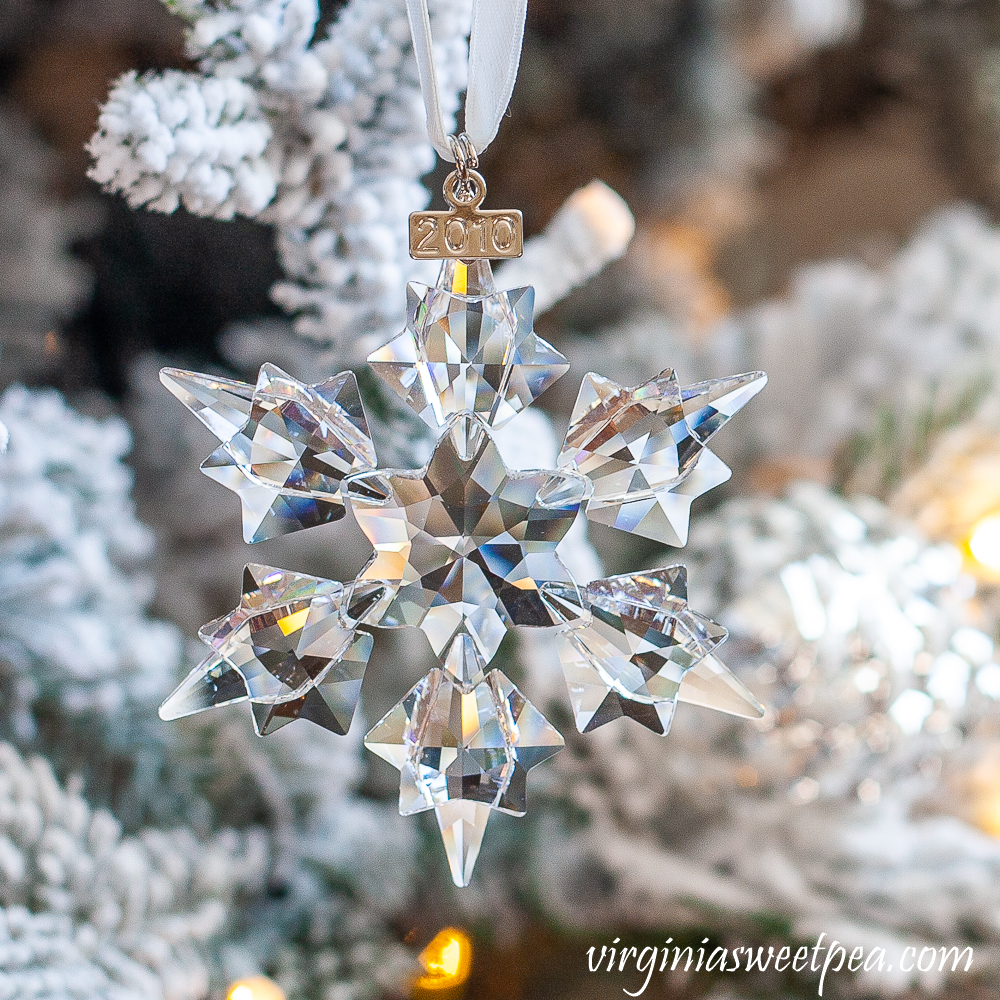 2010 Swarovski crystal snowflake ornament