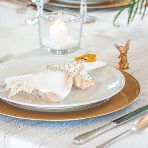 Angel Themed Christmas Tablescape