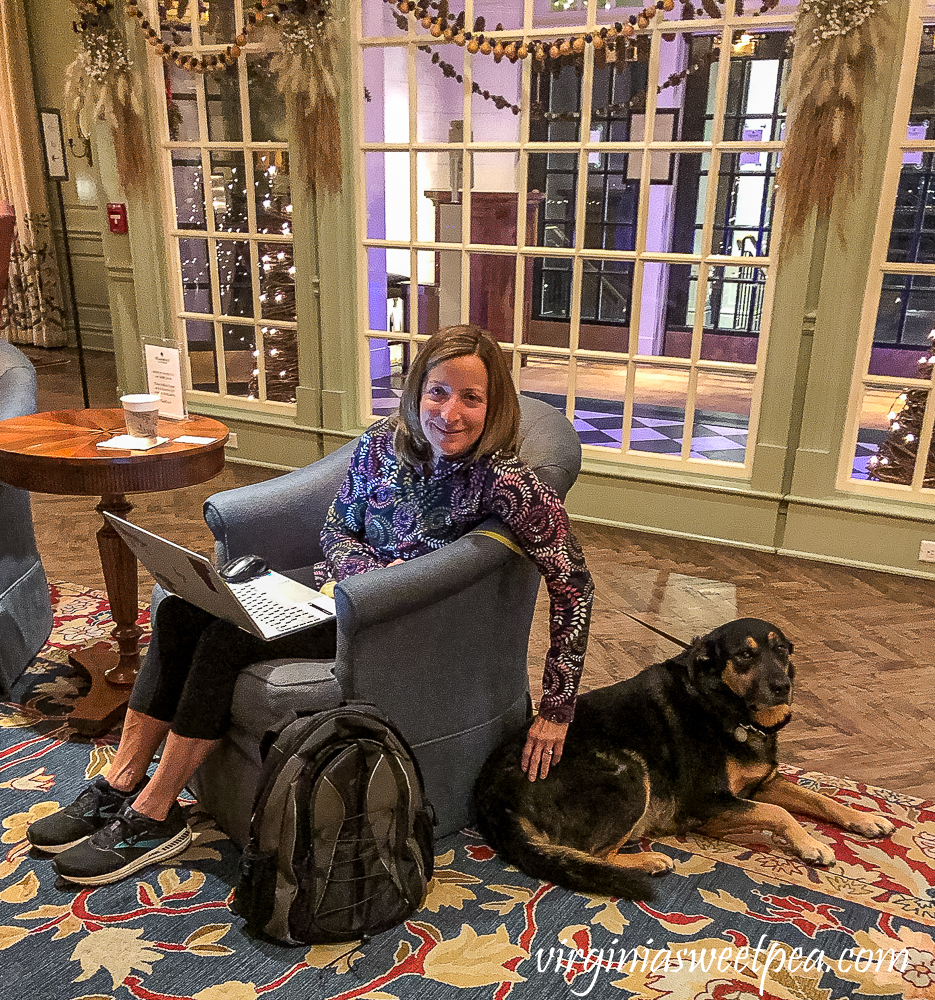 Relaxing in the Lobby of the Woodstock Inn in Woodstock, Vermont
