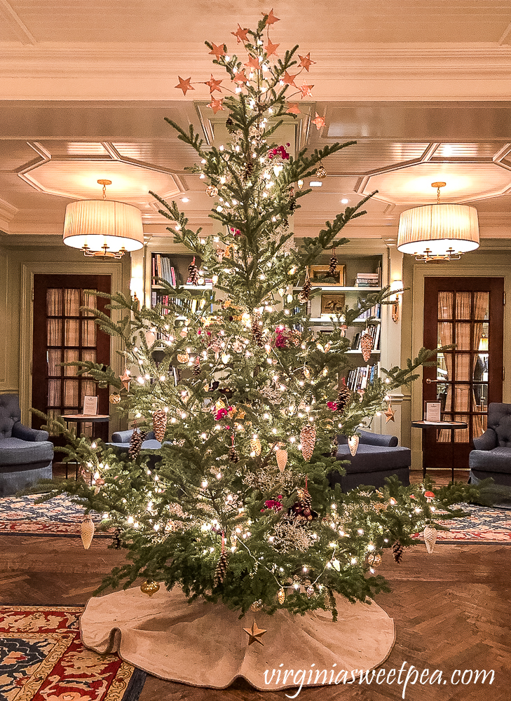 Christmas tree in the Woodstock Inn, Woodstock, Vermont