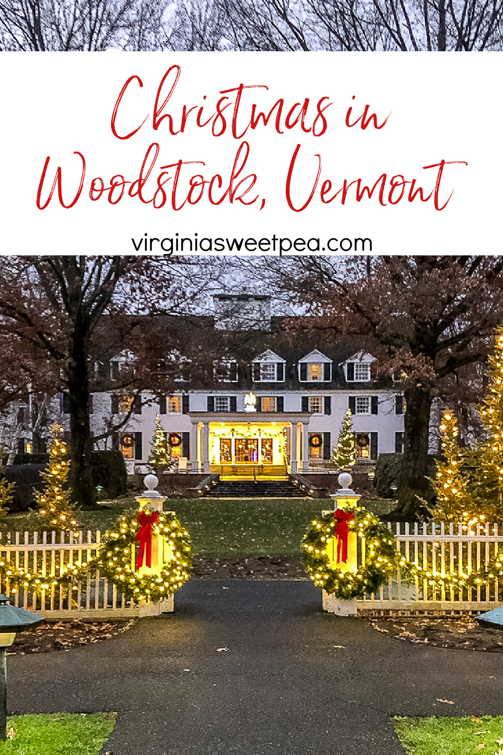 Step into a Vermont town that is straight out of a Hallmark movie!  See the charming details of Christmas in the town of Woodstock, Vermont. via @spaula