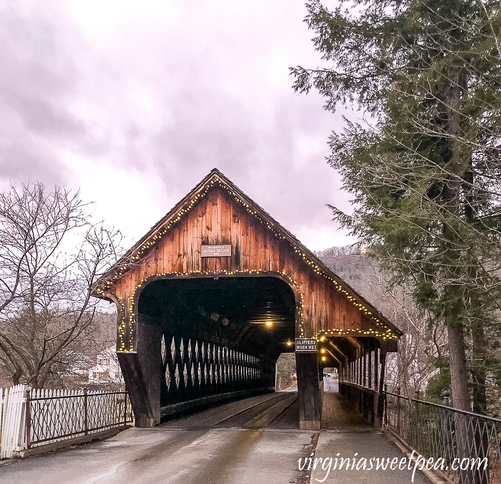 Middle Covered Bridge in Woodstock, Vermont
