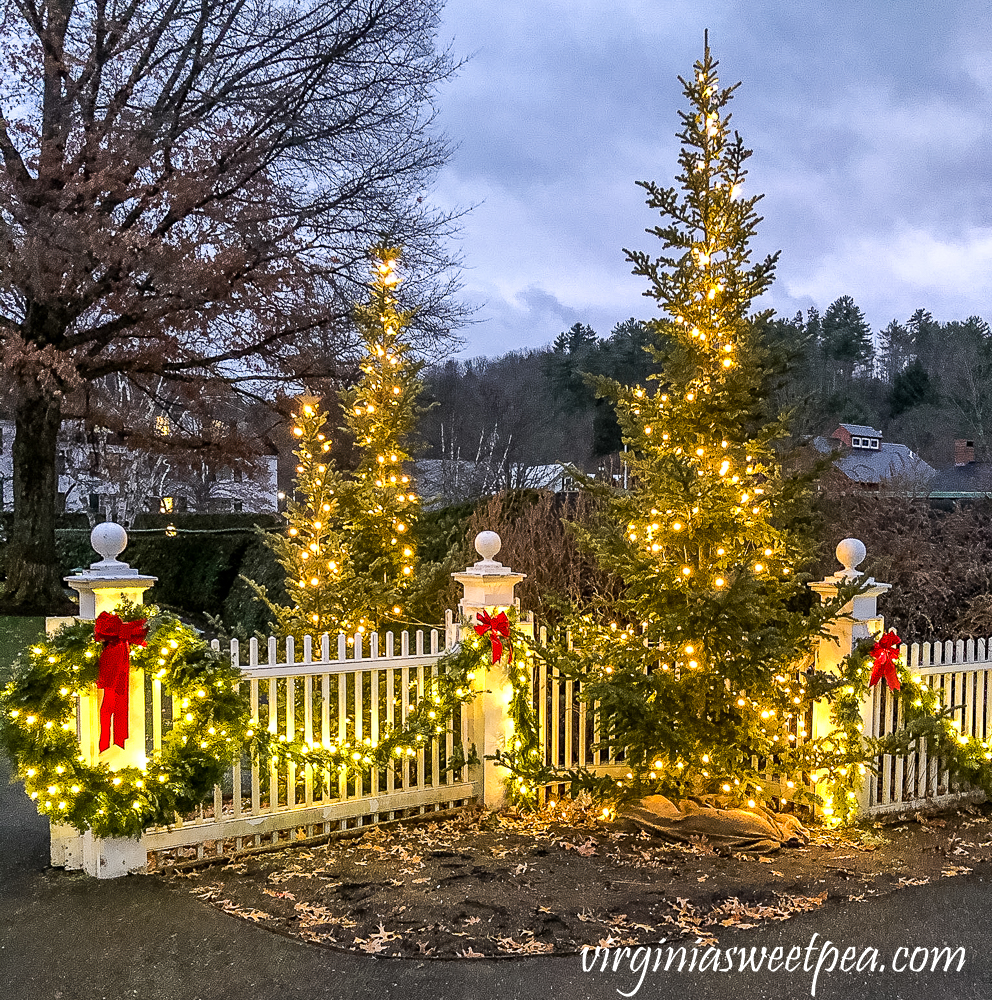 Christmas 2020 Outdoor Decorations at the Woodstock Inn in Woodstock, Vermont