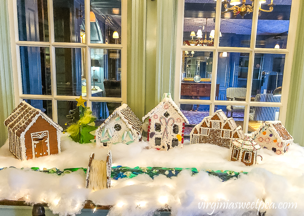 Gingerbread Village at the Woodstock Inn in Woodstock, Vermont