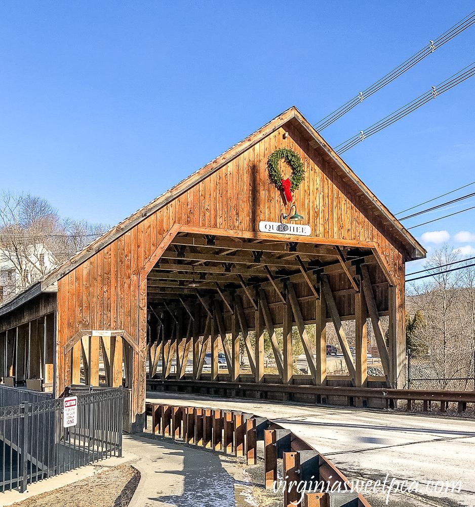 Quechee covered bridge in Quechee, Vermont
