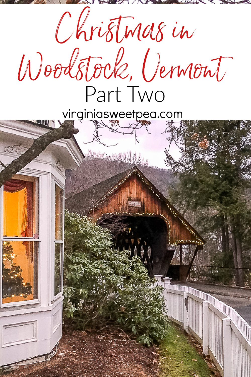 Enjoy the charm of Woodstock Vermont at Christmas.  See decorations in the town, hikes to enjoy, and fun places to visit in the Woodstock area. via @spaula