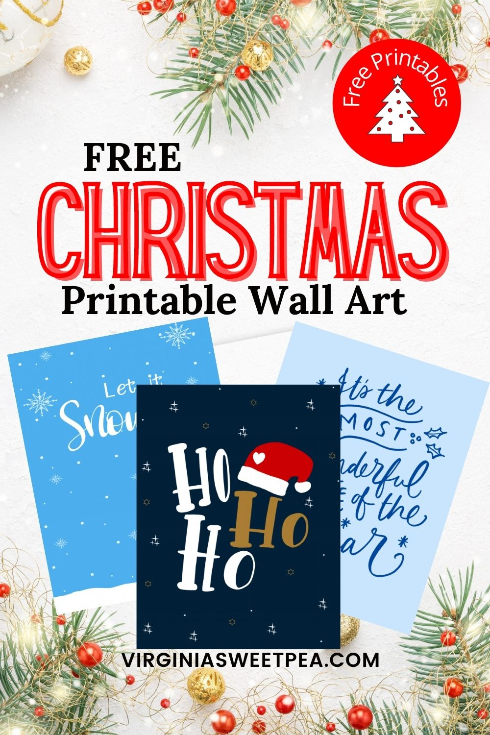 Printables are a wonderful way to decorate your home for Christmas on a budget.  Print these pretty printables out, pop them in a frame, and you have instant Christmas decor.  Make a gift by framing a printable for a friend. via @spaula
