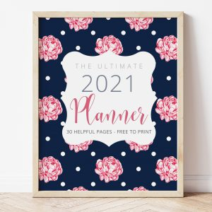 Free Printable 2021 Planner - Cover