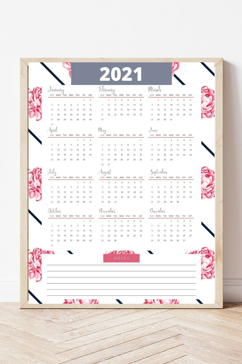 Free Printable 2021 Planner - Entire Year Page