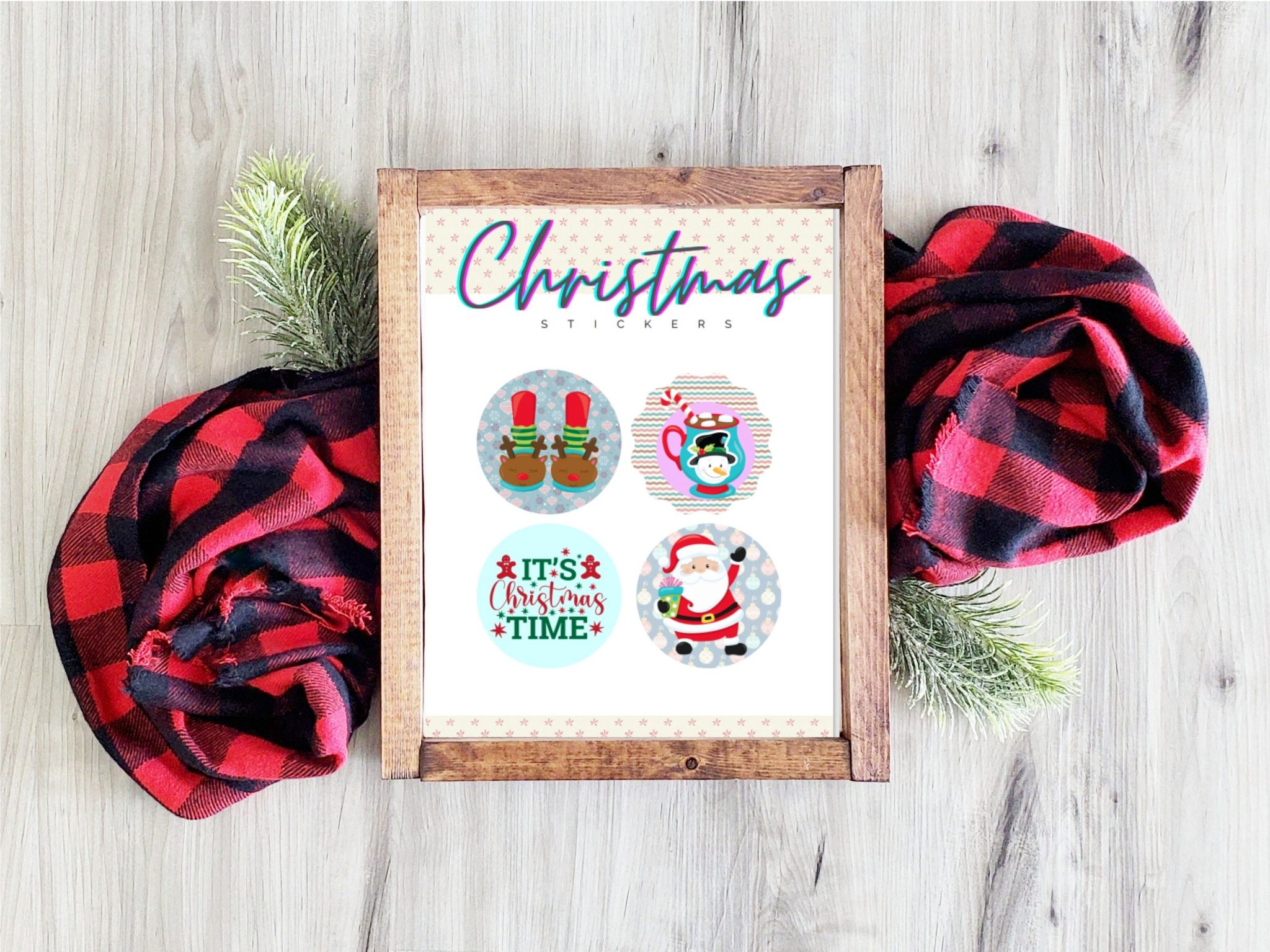 Free Printable Christmas Stickers