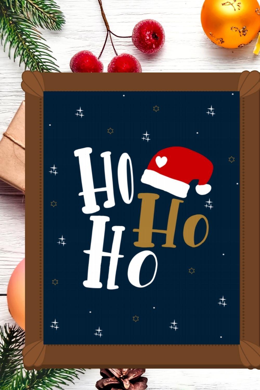 Ho Ho Ho Free Printable Christmas Wall Art