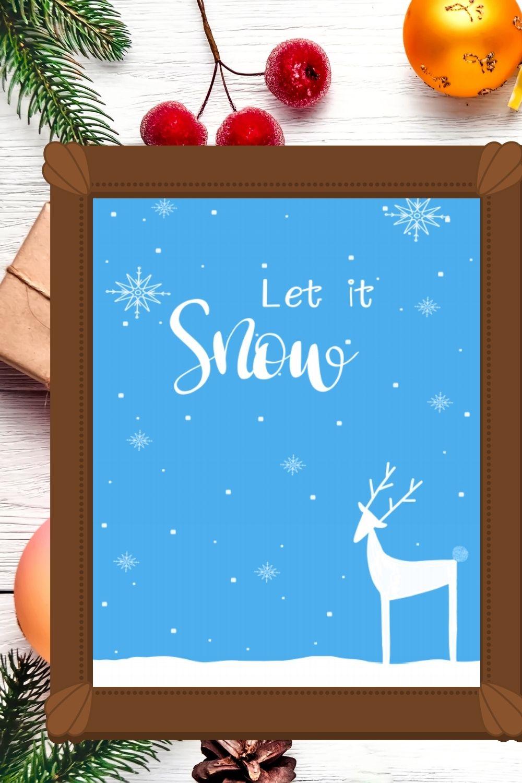 Let it Snow Free Printable Wall Art