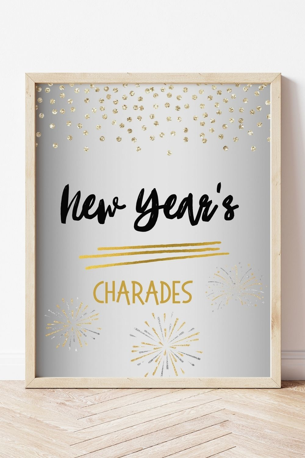 Free Printable New Year's Charade Game Cards