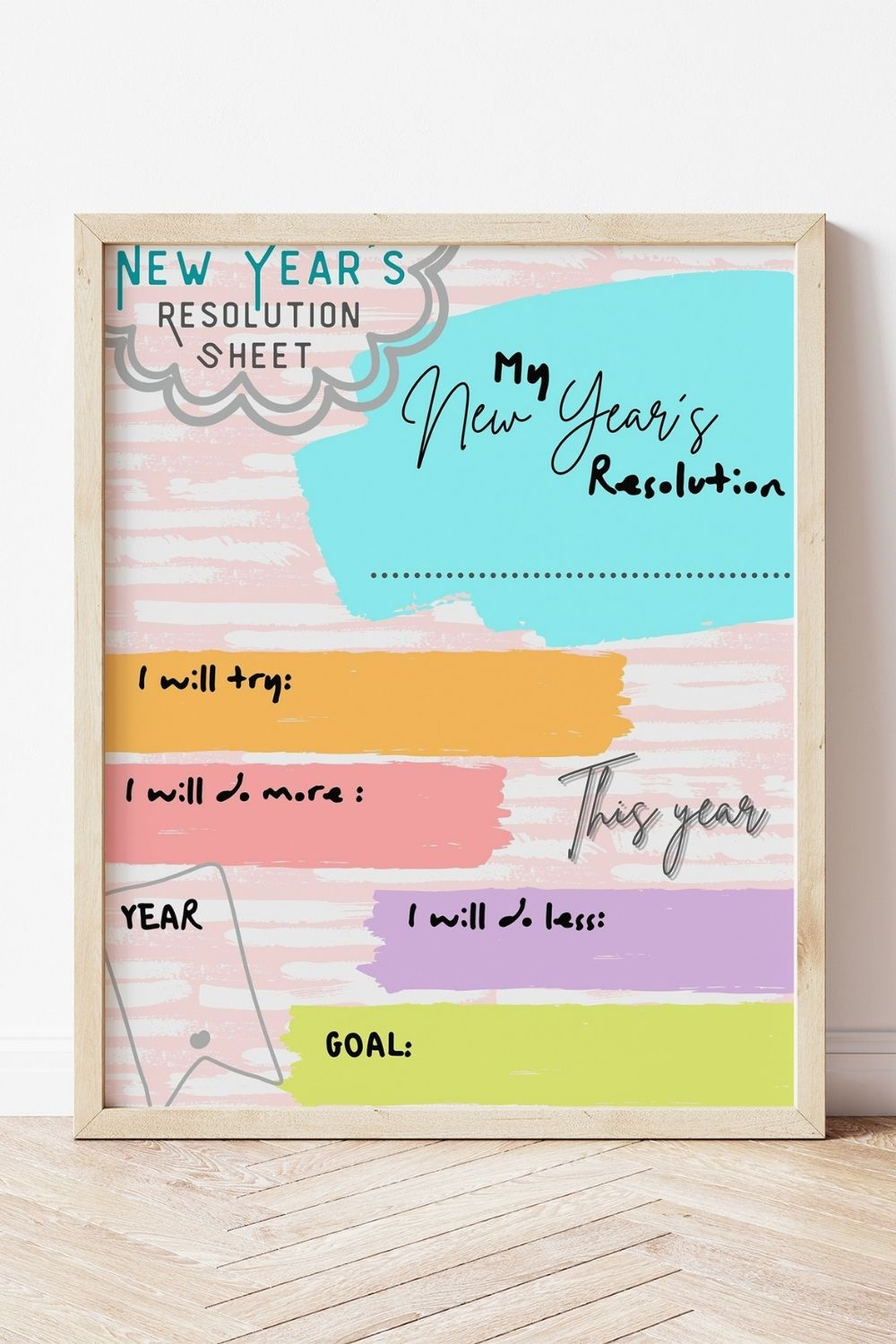 Free Printable New Year's Resolution Page