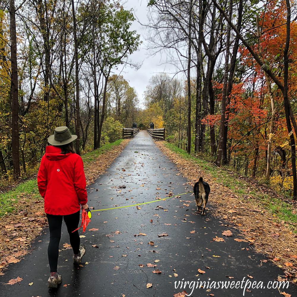 Hiking on Blackwater Creek Trail, Lynchburg, VA