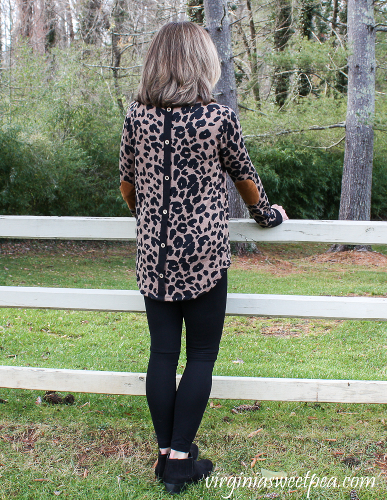 Stitch Fix Review for January 2021 - Pink Clover Abby Button Back Knit Top