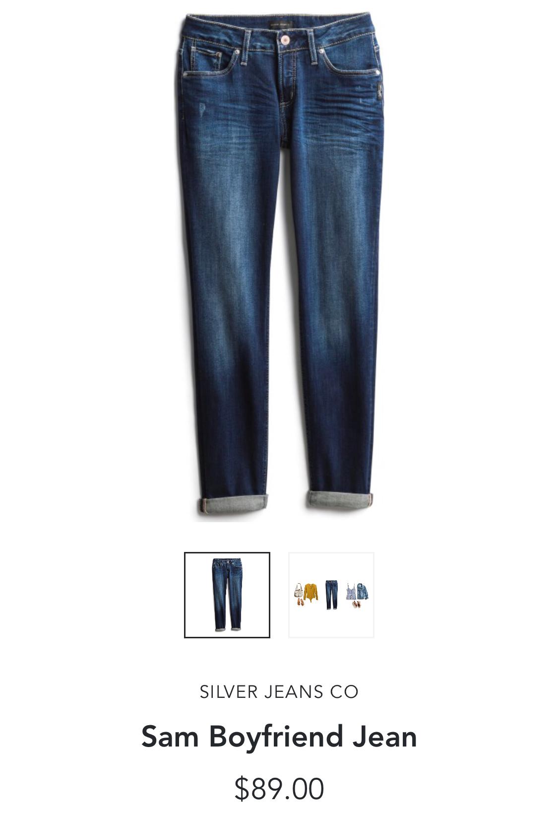Stitch Fix Silver Jeans CO Sam Boyfriend Jean