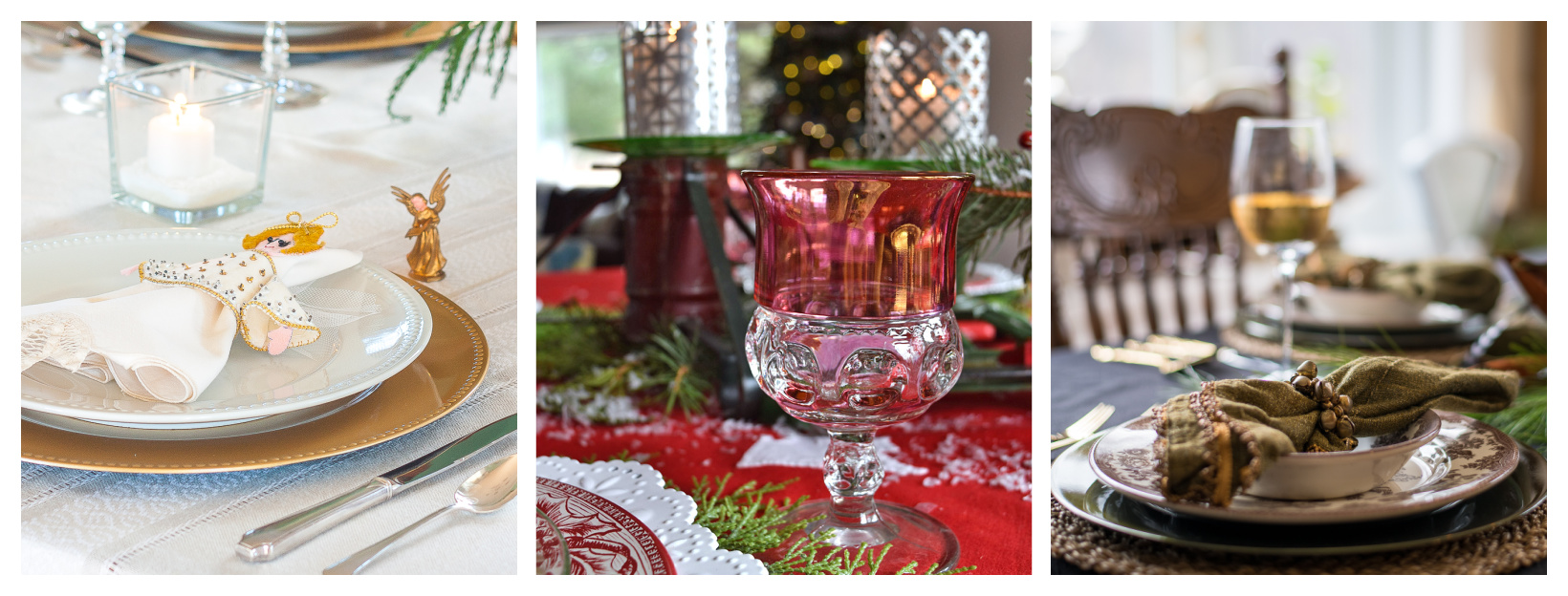 Three Vintage Inspired Christmas Table Ideas