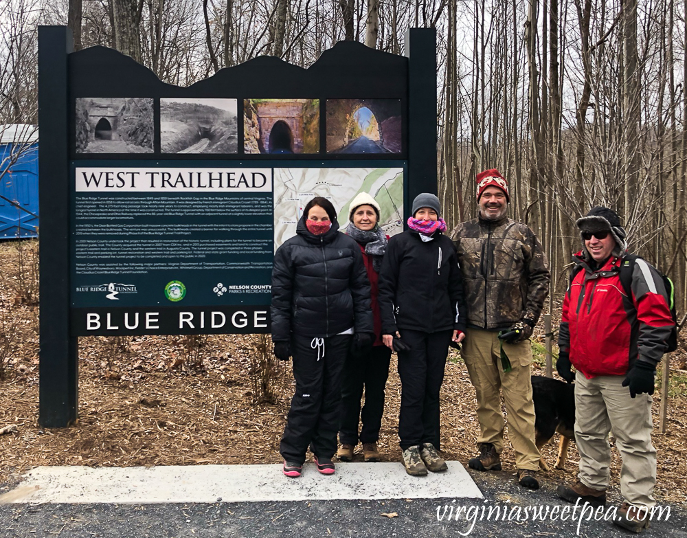 West Trailhead of the Blue Ridge Tunnel Trail in Afton, Virginia