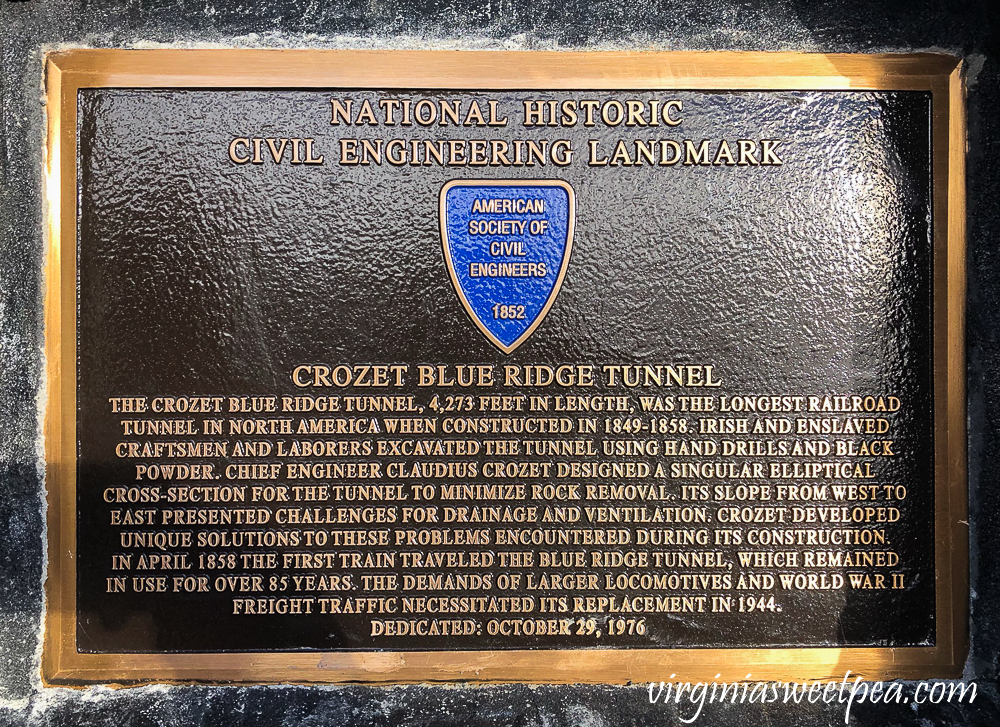 National Historic Civil Engineering Landmark - Crozet Blue Ridge Tunnel