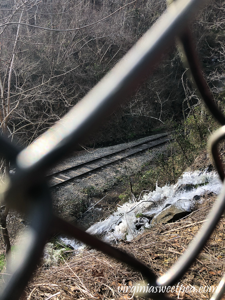 View of Active Railroad from the Blue Ridge Tunnel Trail