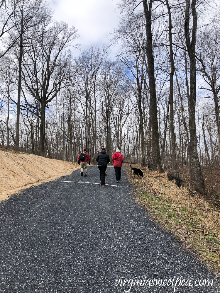 Hiking the Blue Ridge Tunnel Trail in Afton, Virginia - West side of the Trail