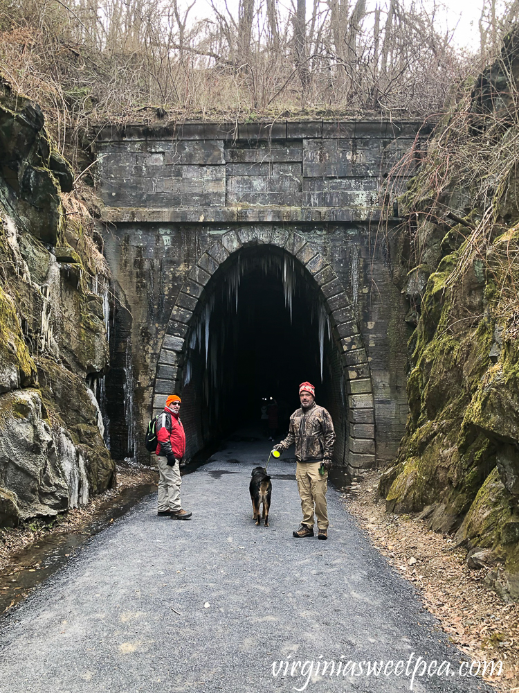 Entrance to the west end of the Blue Ridge Tunnel in Afton, Virginia